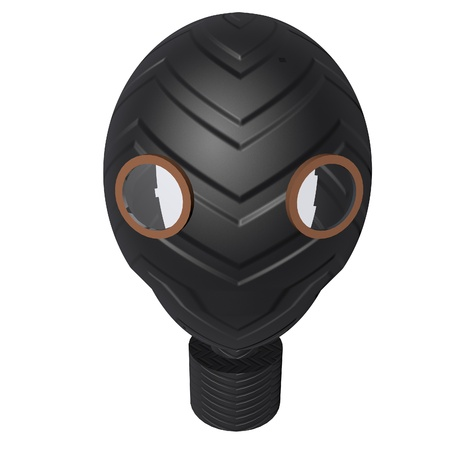 wear mask: Black gas mask isolated over white, 3d render