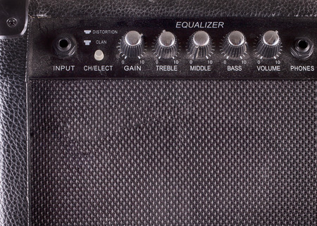 Amp for guitar in close up, hdr image