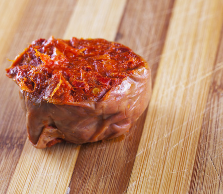 Nduja, typical Italian product, with strong pepper flavor