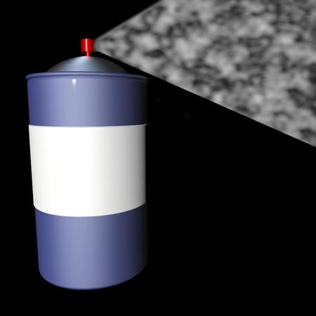 cfc: Spray can over black background, 3d render