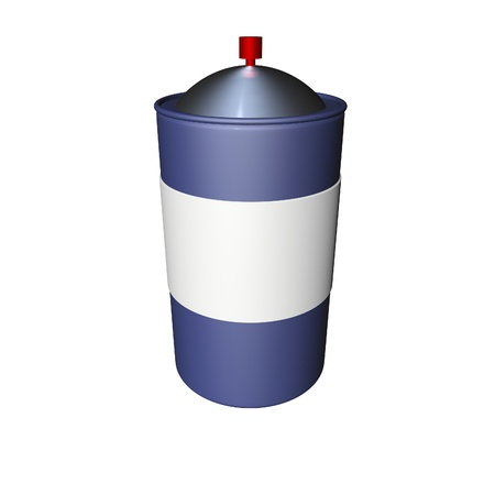 cfc: Spray can isolated over white, 3d render