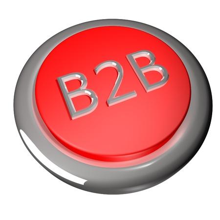 b2b: Bot�n B2B Foto de archivo