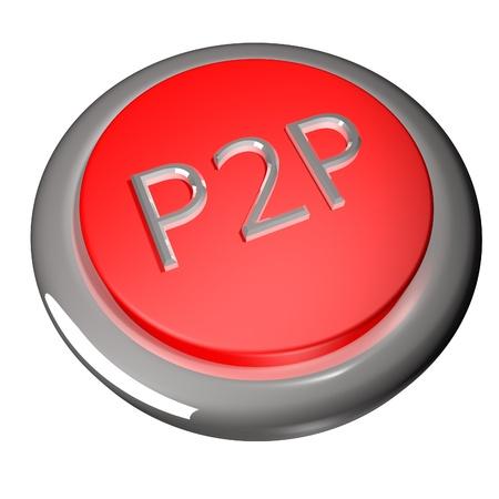 p2p: P2P Button Stock Photo