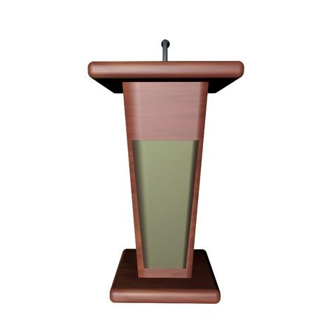 rostrum: Podium for speaker isolated over white, 3d render