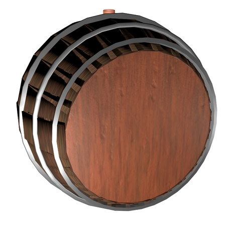 Barrel isolated over white background, 3d render