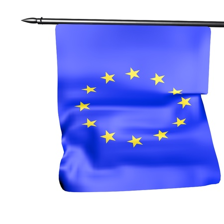 EU flag isolated over white, 3d render