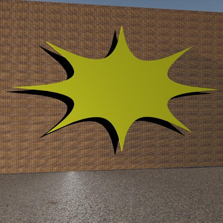 Background for writing on the wall, 3d render photo