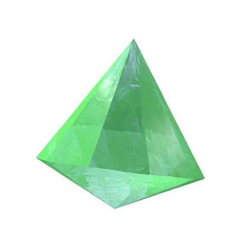 emerald stone: Emerald stone isolated over white, 3d render