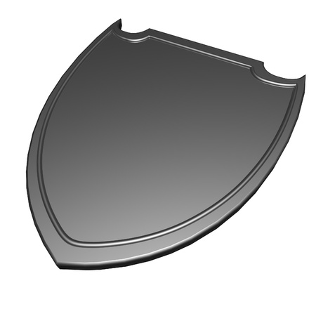 metal shield: Metal shield isolated over white, 3d render Stock Photo