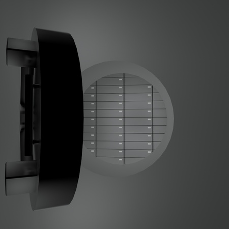safes: Open safety vault with safes inside, 3d render