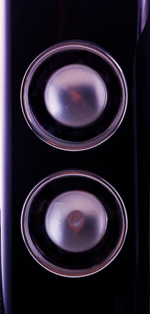 Black amp in close up, vertical image photo