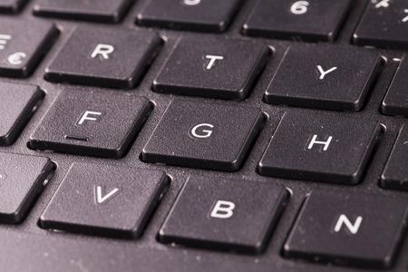 white keyboard: Laptop keyboard in close up, horizontal image