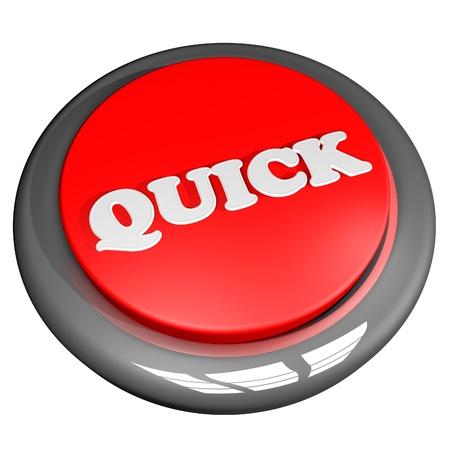 quick: Quick button, 3d render