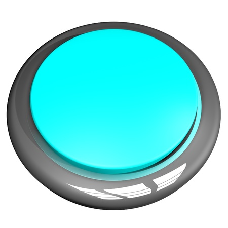 lite: Lite Blue button isolated over White, 3d render, square image