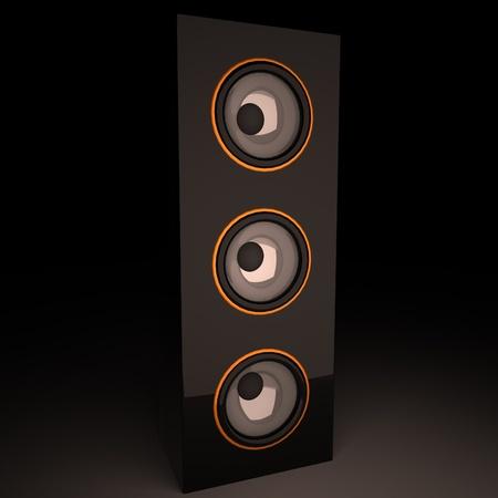 amp: Standing vertical amp, 3d render, square image