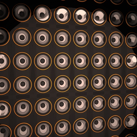 guitar amplifier: Wall of amps, 3d render, square image