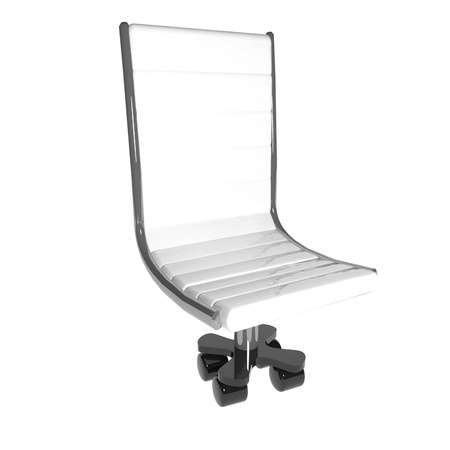 square image: Armchair isolated over White, 3d render, square image