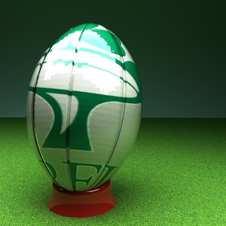 rugger: Irish rugby ball, 3d render