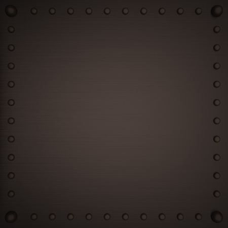 square image: Metal panel with screws, 3d render, square image Stock Photo