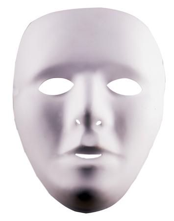 white mask: White unespressive mask over white background, vertical image