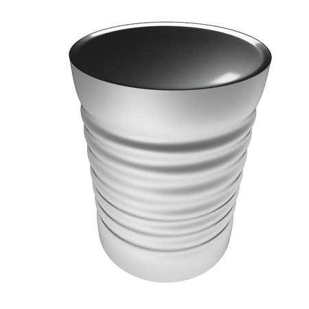 tin can: Tin can isolated over white, 3d render