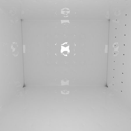 chesterfield: Room with Chesterfield decoration, white, 3d render, square image