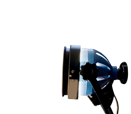 lit image: Lit projector isolated over white, horizontal image