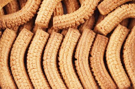 plato del buen comer: Krumiri biscuits in two rows, horizontal image