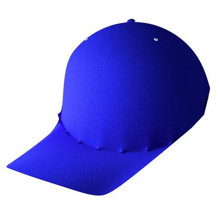 isolated over white: Baseball hat isolated over white, 3d rendering Stock Photo