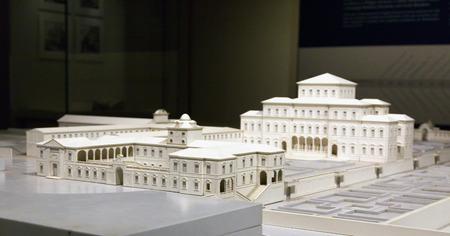 residence: Model of Venaria royal palace near Turin, horizontal image Editorial