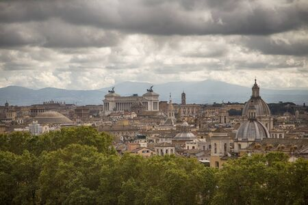 Rome view from high point, landscape view Stock Photo