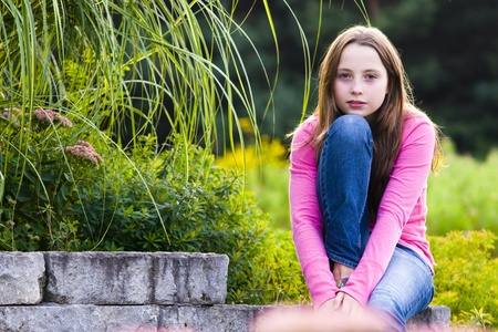 serious woman: Teenager portrait Stock Photo