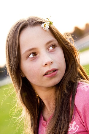 puberty: Teenager portrait Stock Photo