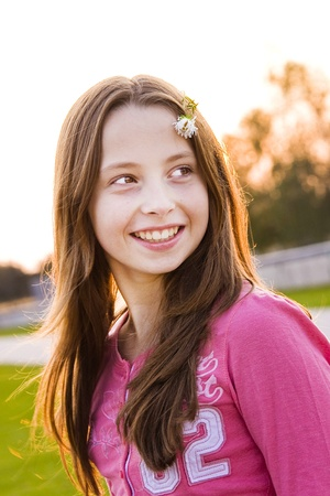 mid teen: Teenager portrait Stock Photo