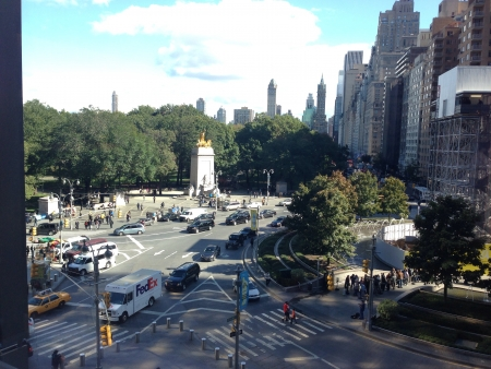 Looking over Columbus Circle Couldnt pass this view without capturing a picture Stock Photo