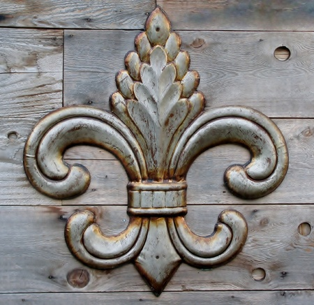 tin fleur-de-lis detail Stock Photo - 11178002