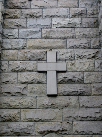 cross on wall background