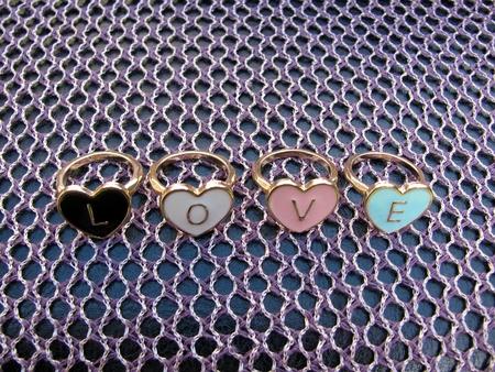 Four hart shape rings photo