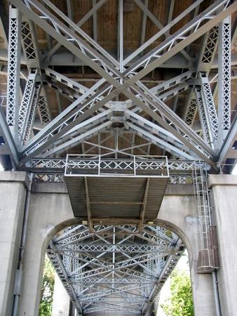artdeco: Under the Burrard Bridge Stock Photo