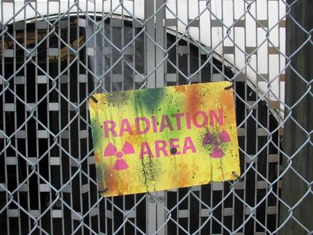 radiacion: �rea de Radiaci�n Se�al de peligro