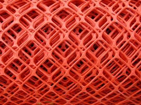 wire mesh: Rolls of plastic fence mesh  safety  warning net