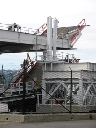 ferries: Ferries vehicle loading docks. British Columbia. Canada Stock Photo