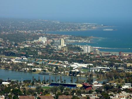 melbourne australia: Aerial view of Melbourne, Australia