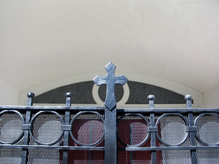 Cross above the entrance gate