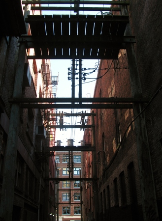 dodgy: Back alley scenery in the Gastown, Vancouver, Canada