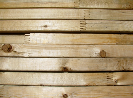 jointed: Stack of new finger jointed lumber