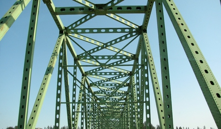 Astoria-Megler Bridge between Astoria, Oregon and Point Ellice near Megler, Washington. USA Imagens - 61671485