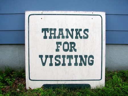 Thanks for visiting vintage street sign