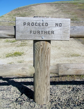 proceed: Proceed no further sign
