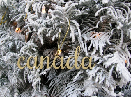 canada word wooden cutout christmas decoration stock photo 80332477